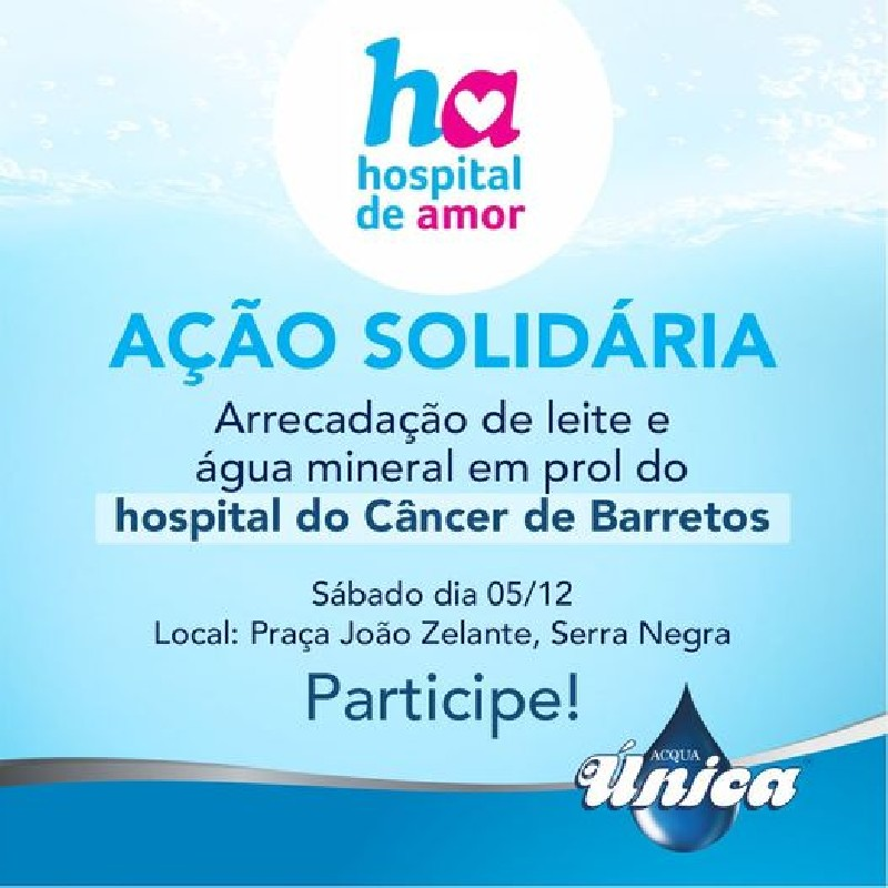 Ajude o Hospital do Câncer de Barretos!